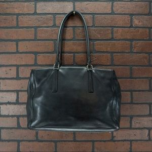 COACH 9428 Black Hampton Style Leather Tote